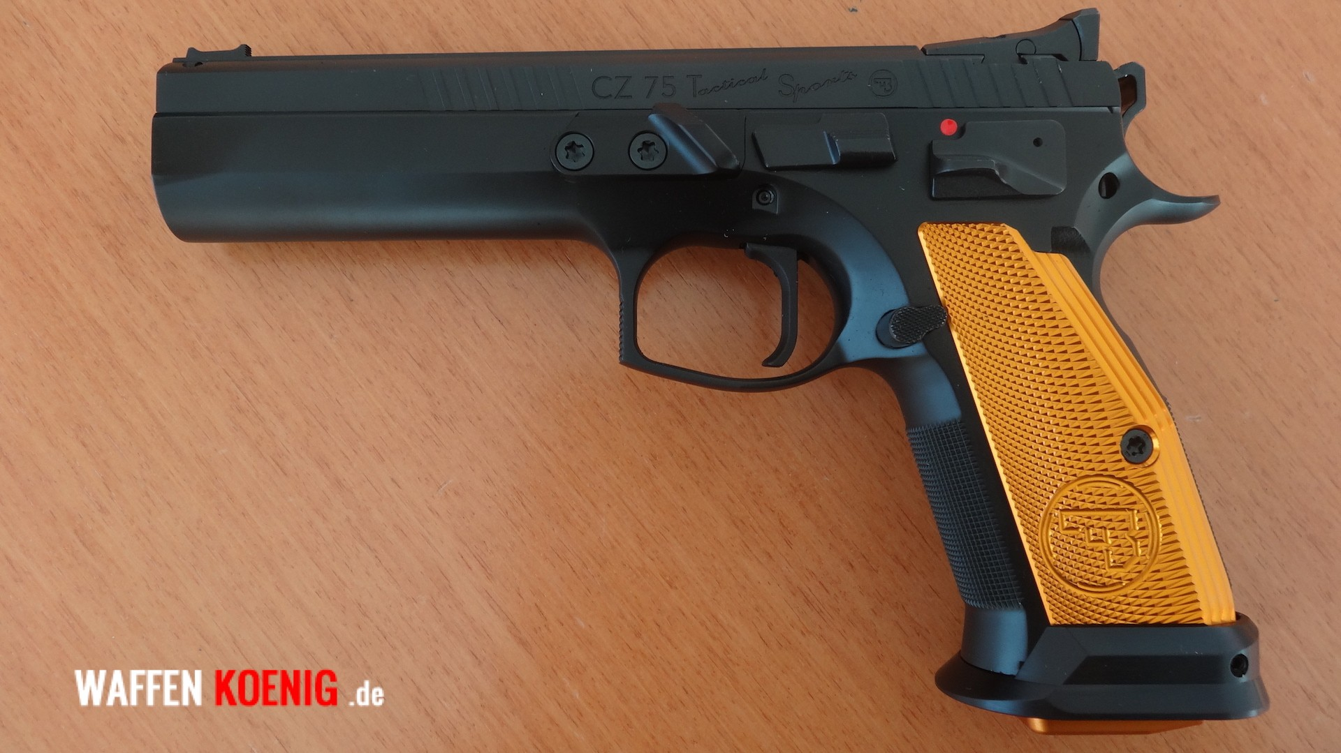 Pistole CZ 75 Tactical Sports orange, Cal. 9x19 mm