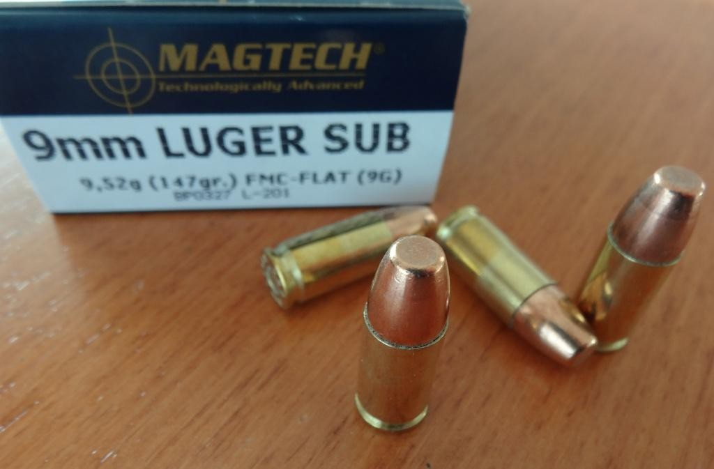 Magtech 9mm Luger, FMJ Subsonic
