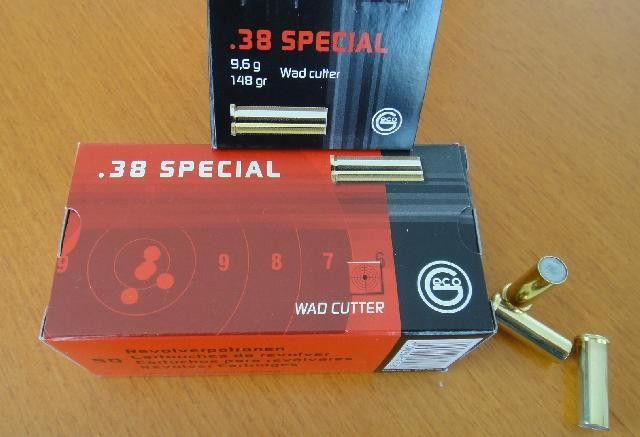 100 GECO Patronen .38 Special Wad Cutter