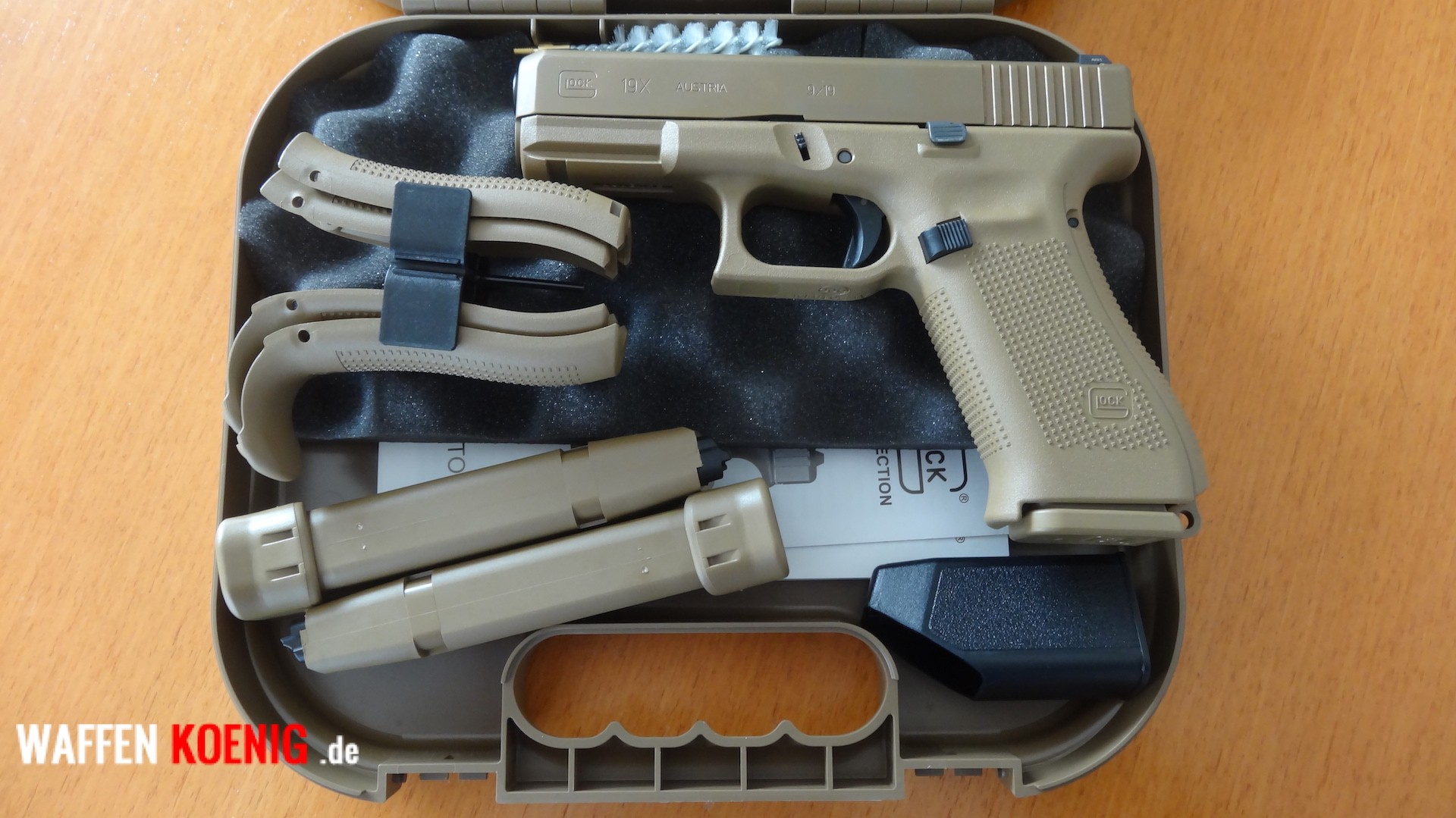 SL-Pistole: Glock 19X-Cal. 9x19 mm in Coyote Tan