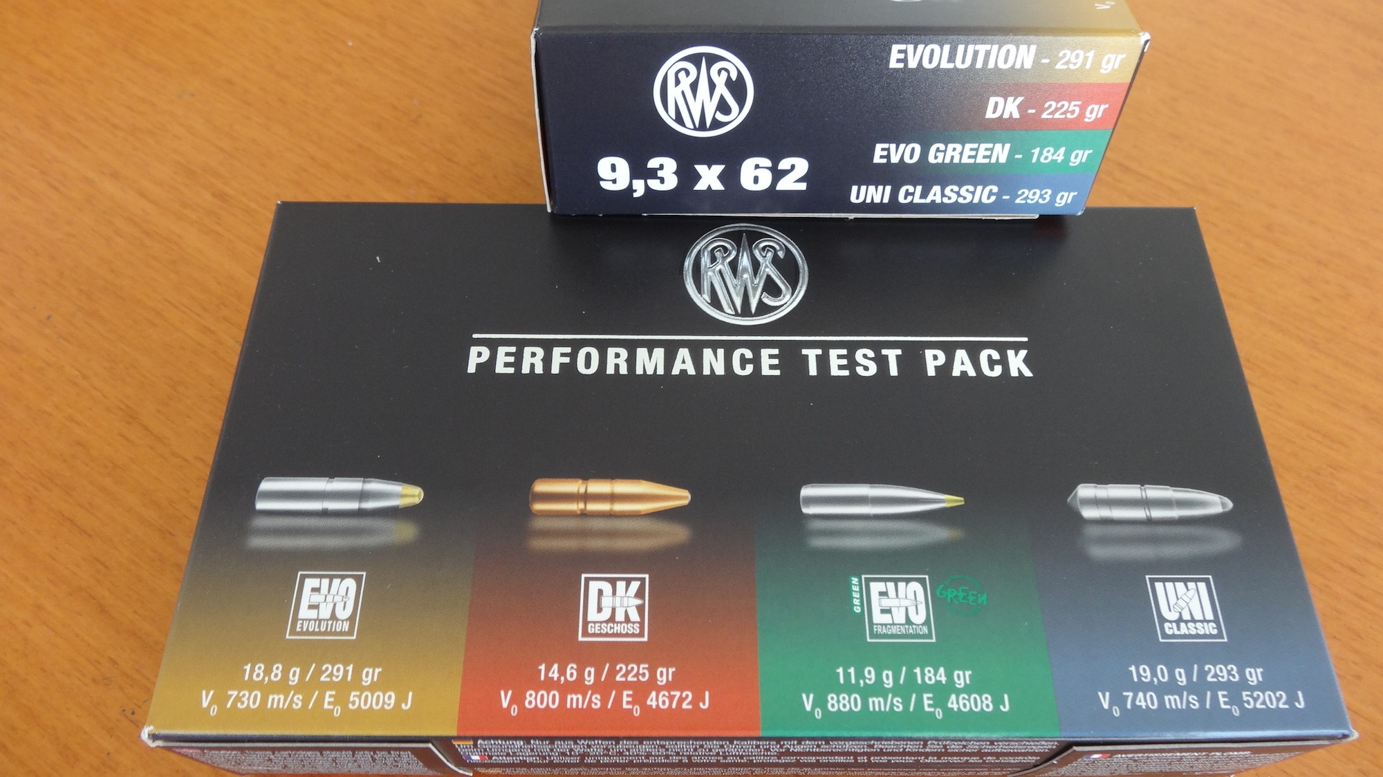 RWS Performance Test Pack Cal. 9,3x62