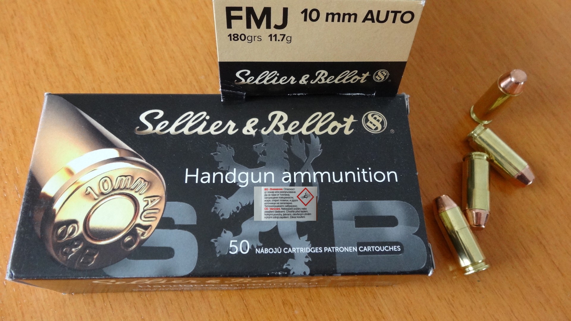 Sellier & Bellot, S+B 10mm Auto FMJ 180grs.