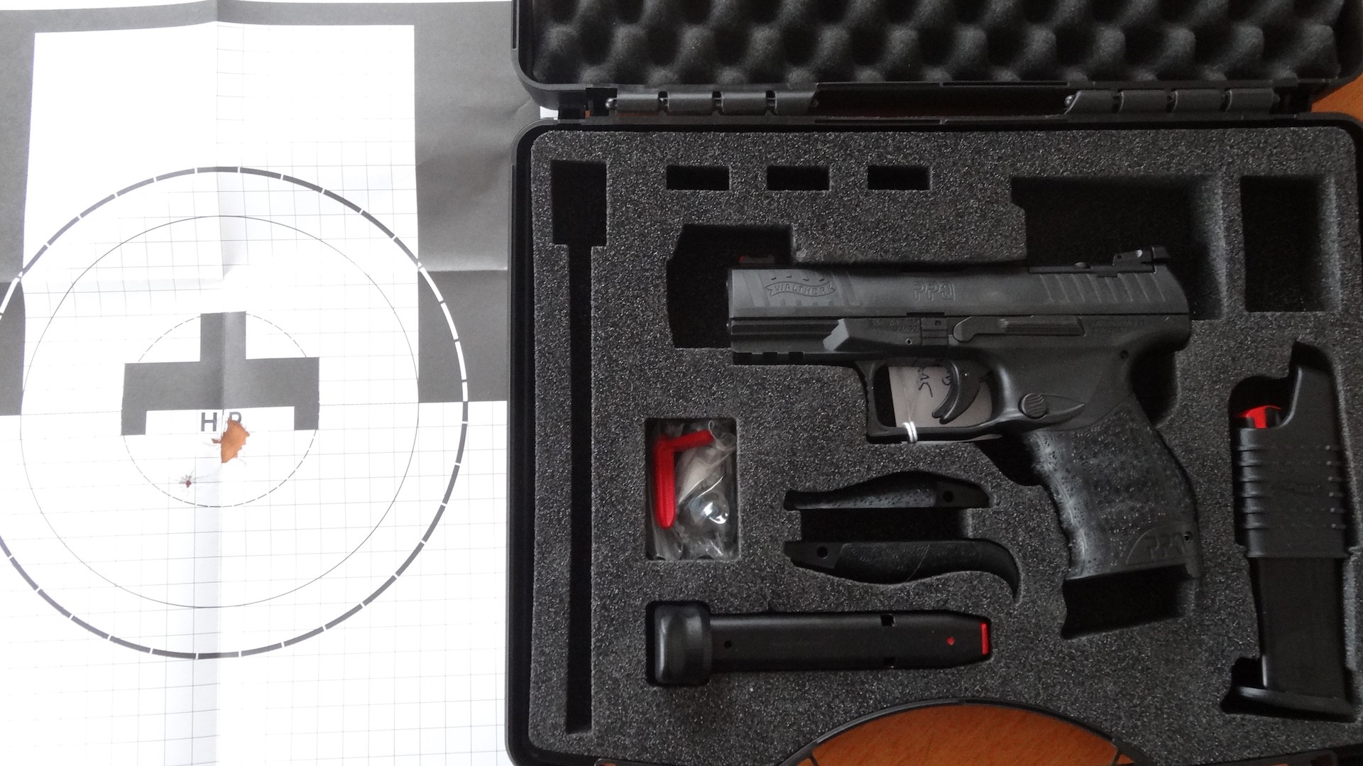 SL-Pistole: WALTHER PPQ Q4 TAC Cal. 9x19 mm